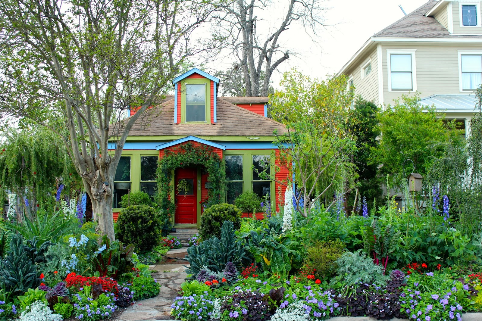 Cottage garden entwined with beautiful edibles highlight of