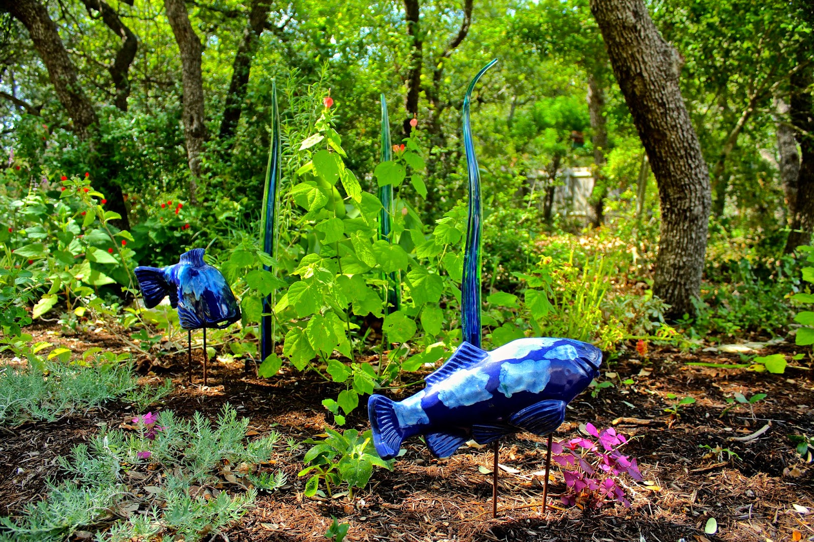 I Recently Made A Return Trip To The Arbor Gate Nursery In Tomball To  Collect Some Of Their Wonderful Garden Art. I Came Home With Two Ceramic  Fish And Two ...