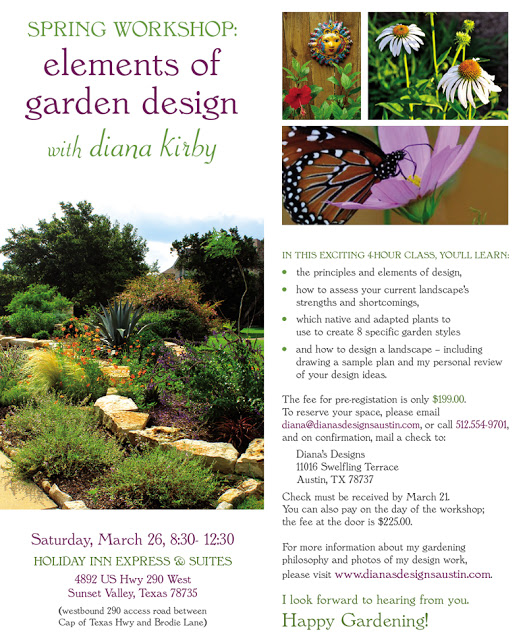 Dianas Designs Austin Gardening Garden Design Workshop
